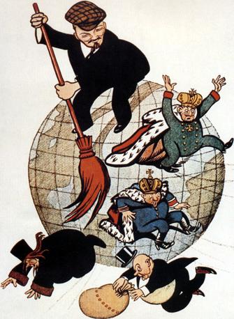 Lenin spazza via il capitalismo