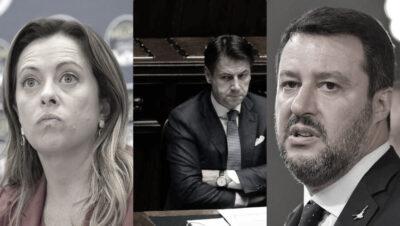 Meloni Conte Salvini