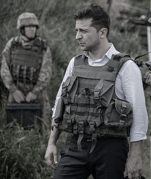 Volodymyr Zelenski al fronte