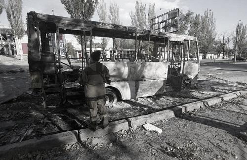 Bombardamenti a Donetsk