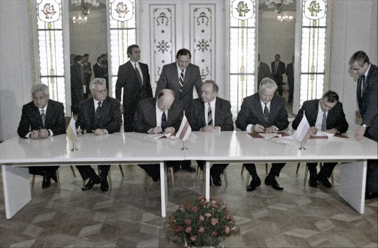 Firma degli accordi di Beloveža