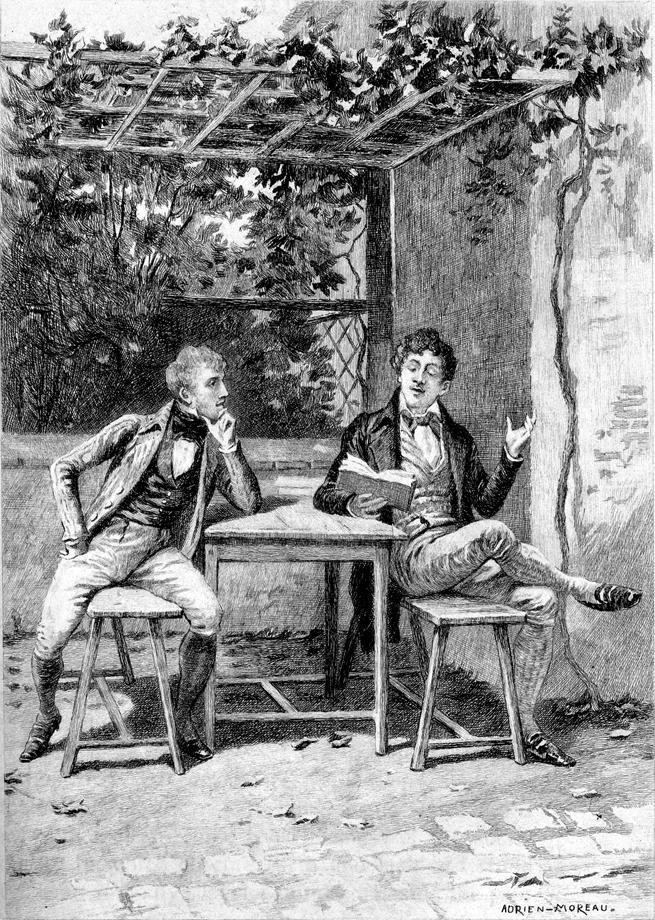 Lucien in compagnia di Daniel d'Arthez