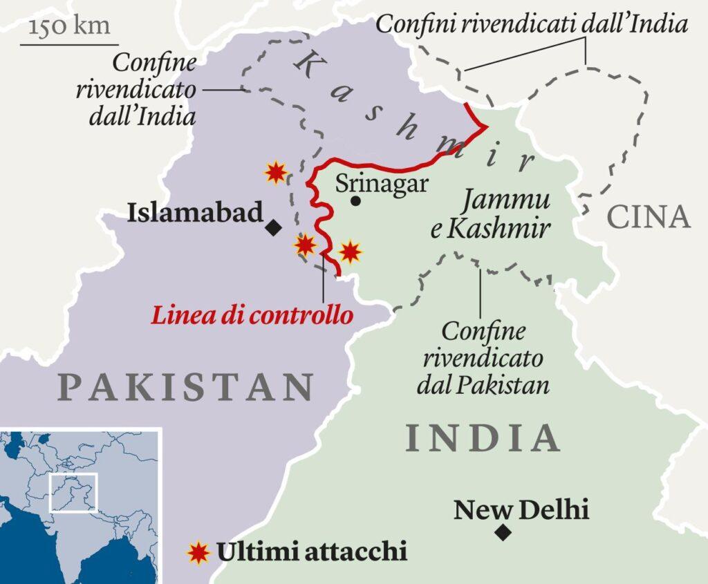 mappa pakistan india