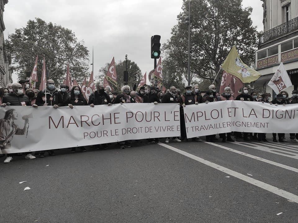 Manifestazione CGT Parigi