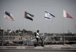 bandiere accordi di abramo oppressione sionista causa palestinese