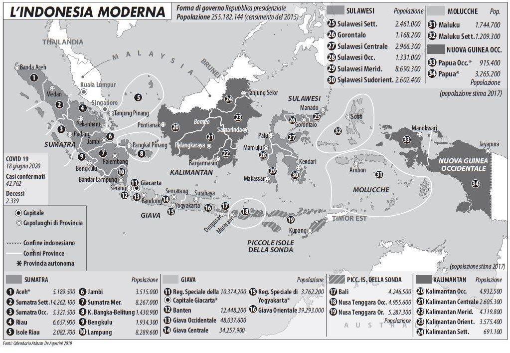 mappa indonesia moderna