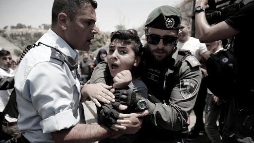 bambino palestinese arrestato