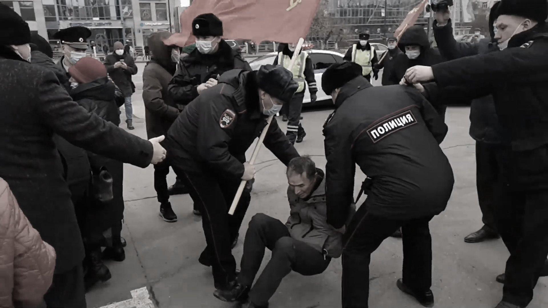 Repressione poliziesca a Tyumen