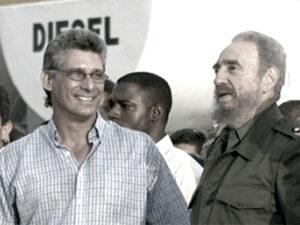 Miguel Diaz-Canel e Fidel Castro