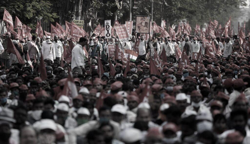 lotte riforma governo modi, Partiti comunisti indiani alla testa delle lotte in India.