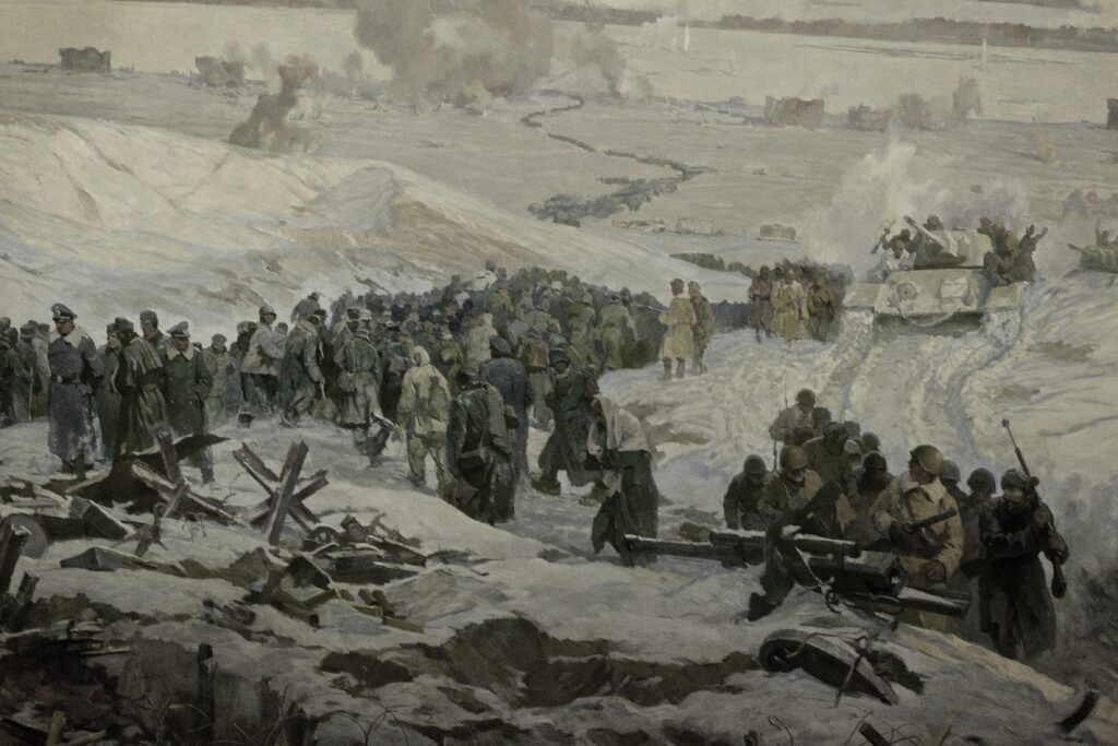 armata rossa vince stalingrado - Resa delle truppe naziste a Stalingrado, Volgograd Panorama Museum