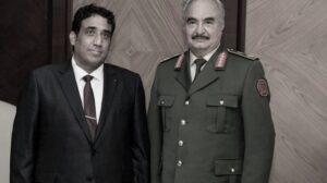 Il comandante dell'LNA Khalifa Haftar incontra il capo del Consiglio presidenziale Mohammad al-Menfi