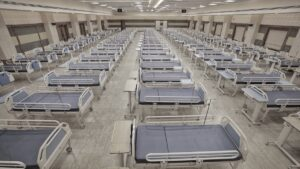 Ospedale speciale per pazienti con Coronavirus.