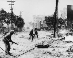 Militari statunitensi in azione a Seoul