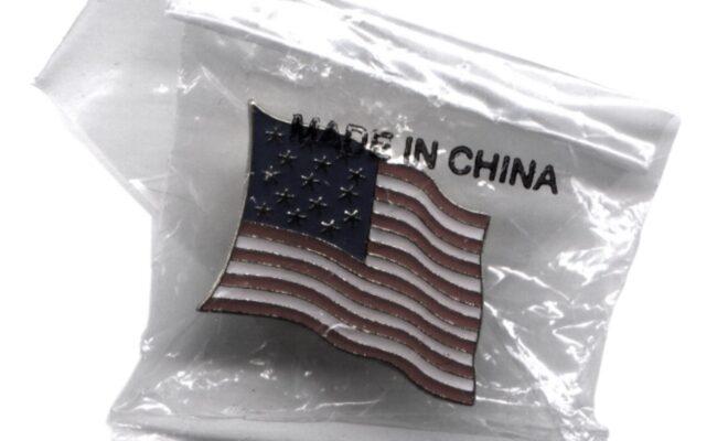 Spilla USA made in China