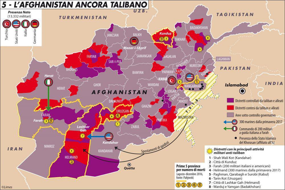 ritirata dall'Afghanistan mappa 2