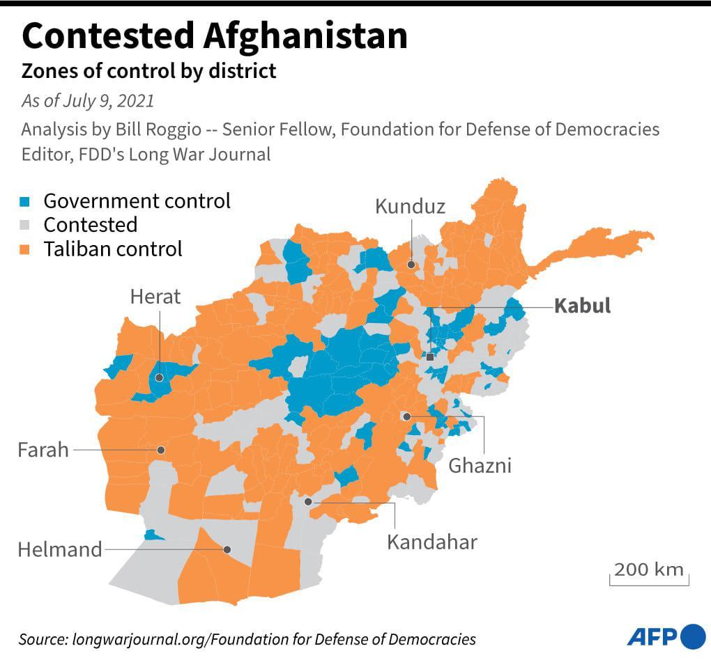 ritirata dall'Afghanistan mappa 3